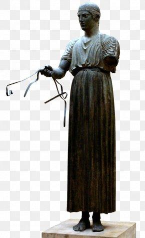Ancient Greek Sculpture - Delphi Archaeological Museum Charioteer Of Delphi Kore Ancient Greek Sculpture PNG