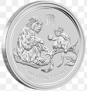 Silver Coin - Perth Mint Monkey Silver Bullion Coin PNG