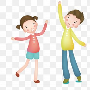 Happy Kids Playing - Child Illustration PNG