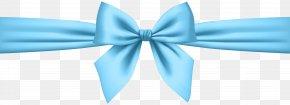 Soft Blue Bow Transparent Clip Art - Blue Clip Art PNG