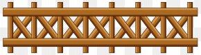 Transparent Wooden Garden Fence Clipart - Fence Garden Gate Clip Art PNG