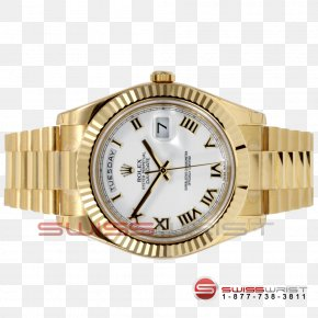Watch - Rolex Day-Date Watch Strap Gold PNG