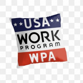 Works Progress Administration - Cushion United States Of America Throw Pillows Rectangle PNG
