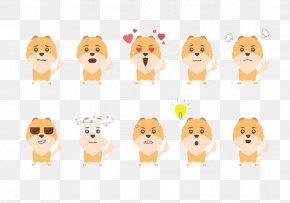 Puppy Face Sunglasses Series - Pomeranian Dog Breed Cartoon Emoticon Animation PNG