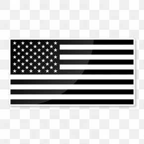 White American Flag Black White - Flag Of The United States Decal Sticker PNG