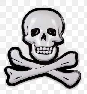 Skull - Skull And Crossbones Piracy Party Mask PNG