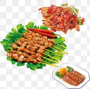 Spicy Food Barbecue Lamb Kebabs - Barbecue Kebab Chuan Meat PNG