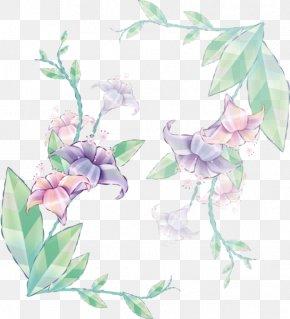 Design - Floral Design Watercolor Painting Clip Art PNG