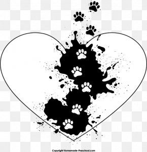 Paw Print Cliparts - Heart Paw Tiger Clip Art PNG