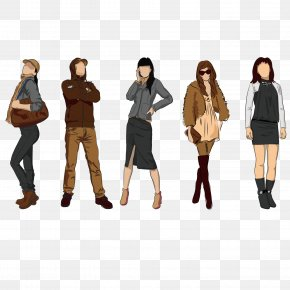 Trend Men And Women Clothing - Fashion Model Clothing Royalty-free PNG