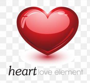 Red Love Heart - Heart Clip Art PNG