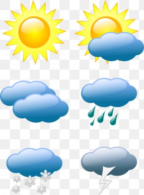 Cartoon Weather Pictures - Weather Forecasting Symbol Clip Art PNG