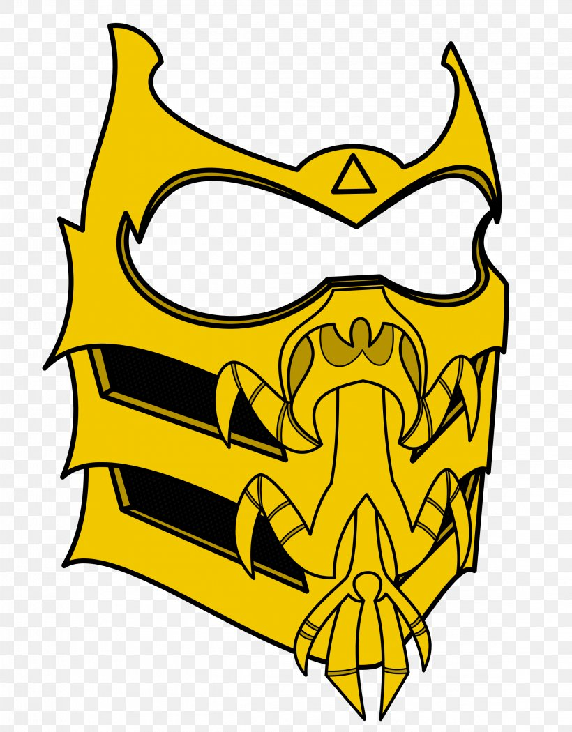 Mortal Kombat X Scorpion Mask Mortal Kombat Legacy Png 2318x2969px Mortal Kombat Area Artwork Black And