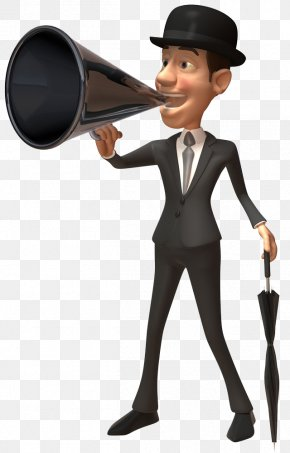 Shout The Slogan With A Trumpet - 3D Computer Graphics Royalty-free Clip Art PNG