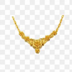 Gold Necklace - Gold Necklace Jewellery Gratis PNG