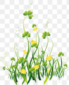 Saint Patrick's Day - Saint Patrick's Day Floral Design Ireland Shamrock Clip Art For Scrapbooks PNG