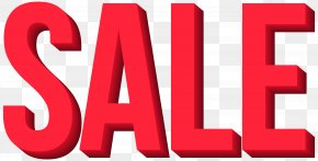 Red Sale Transparent Clip Art Image - Sales Clip Art PNG