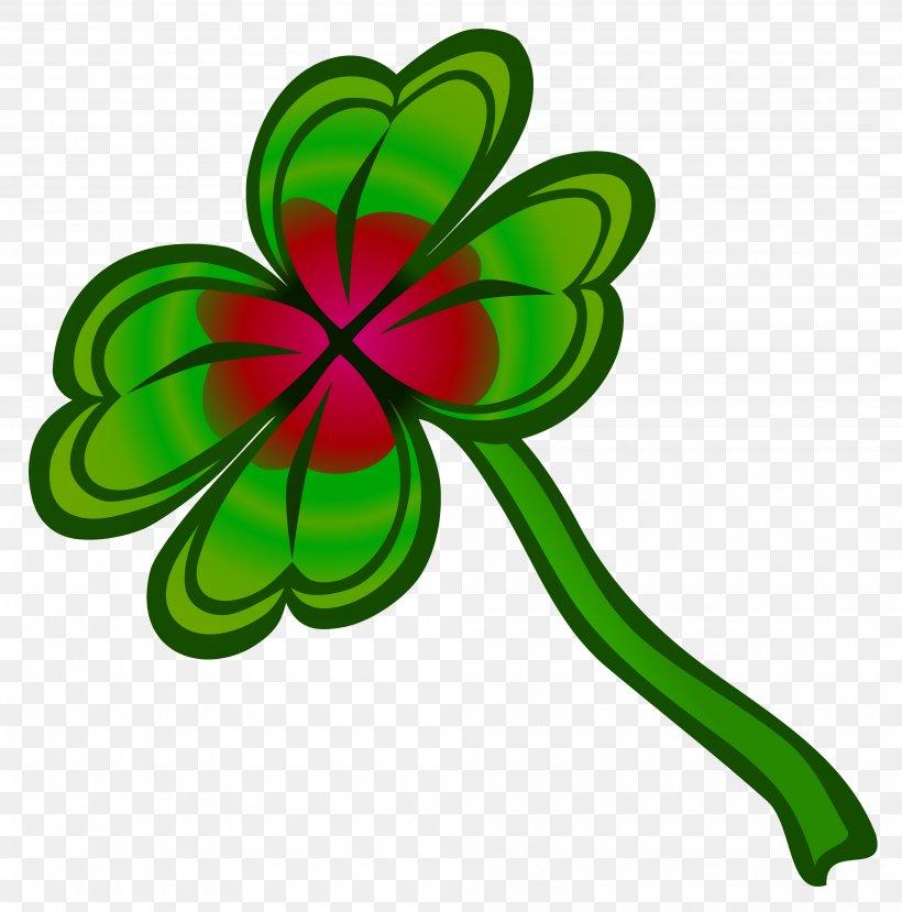 Four-leaf Clover Clip Art, PNG, 4000x4045px, Clover, Cloverleaf Interchange, Flora, Flower, Flowering Plant Download Free