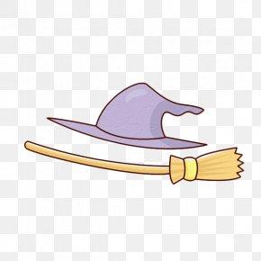 Cartoon Magic Broom And Magic Hat - Magic Hat Cartoon PNG