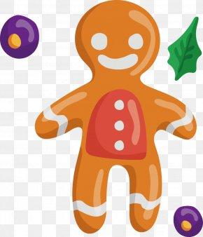 Hand-painted Watercolor Cartoon Villain Chocolate - Gingerbread Man PNG