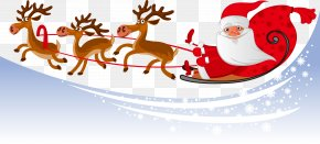 Vector Christmas Snow Background Elements - Santa Claus Parade New Year's Eve December PNG