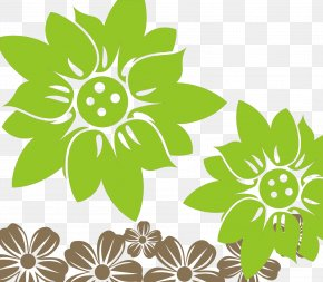 Vector Green Flowers - Green Euclidean Vector Flower Download Computer File PNG