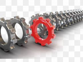 Metallic Gears - Leadership Innovation Business Organization Management PNG