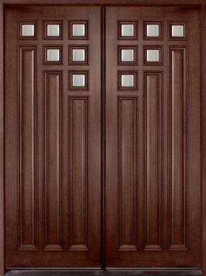 Wood Door - Door Solid Wood Window PNG