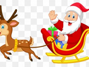 Santa Claus - Santa Claus Clip Art Rudolph Reindeer Illustration PNG