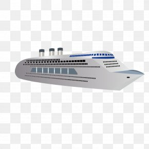 Vector Simple Cruise Yacht Luxury Yacht - Cruise Ship Yacht Boat PNG