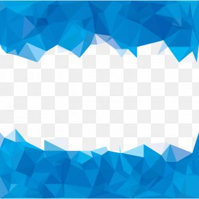 Sky Blue Polygons Abstract Background - Blue Polygon Abstraction PNG