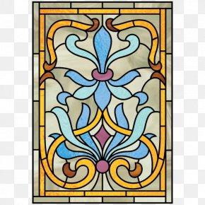 Art Nouveau - Art Nouveau Coloring Book Stained Glass PNG