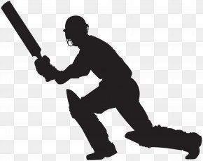 Cricket Player Silhouette Clip Art Image - Silhouette Clip Art PNG