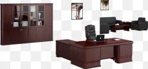 Wood Desk - Table Office Desk Furniture PNG