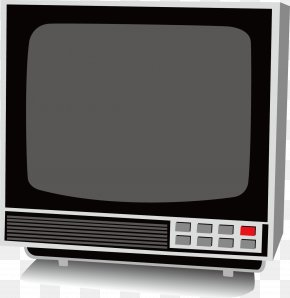 Old Vintage Black And White TV Appliance Background Material - Television Set Computer Monitor PNG