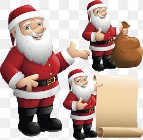 Santa Claus Illustration - Santa Claus's Reindeer Christmas Ornament Illustration PNG