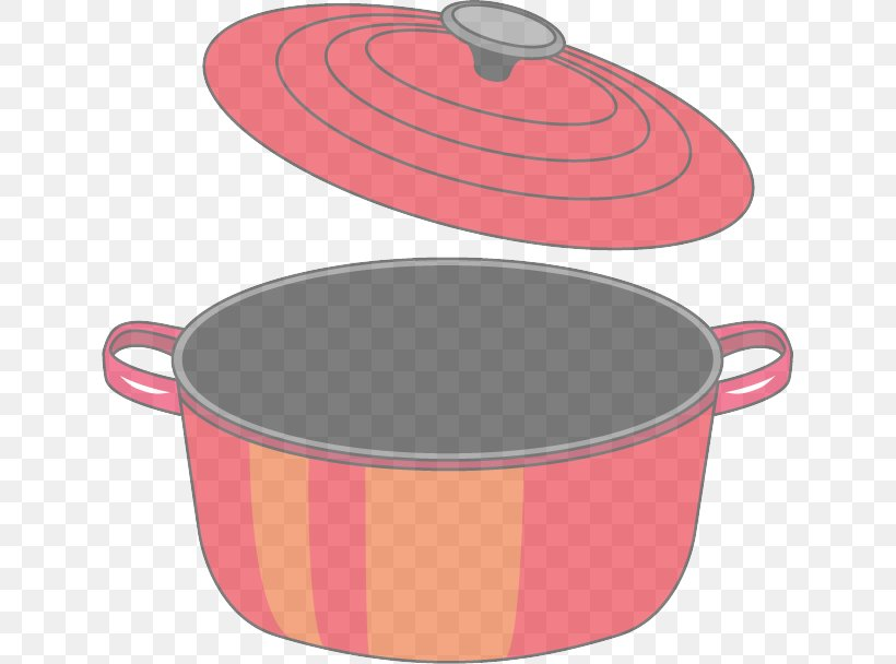 Cookware And Bakeware Pink Stock Pot Lid Dutch Oven, PNG, 633x608px, Cookware And Bakeware, Dutch Oven, Frying Pan, Lid, Oval Download Free