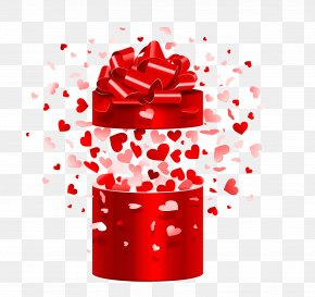 Vector Open Gift Box - Microphone Valentine's Day Gift Heart PNG