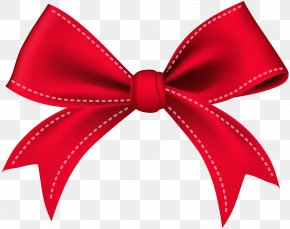 Bow Red Clip Art Image - Red Clip Art PNG