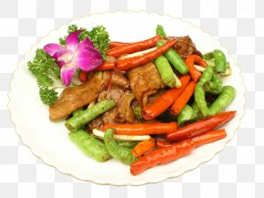 Hang Pepper Fried Bacon - Twice Cooked Pork Bacon Vegetarian Cuisine Stir Frying PNG