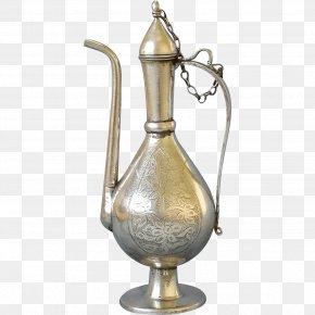 Vase - Teapot Silver Jug Metal Tableware PNG