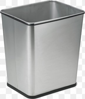 Trash Can - Waste Container Recycling Bin Bin Bag Stainless Steel PNG
