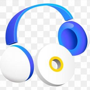Blue Headset Model - Headphones Headset Clip Art PNG