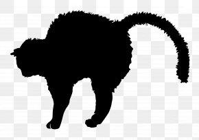 Black Cat - Black Cat Silhouette Kitten Clip Art PNG