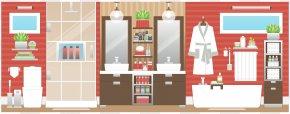 Bathroom Background Cliparts - Bathroom House Bedroom Living Room PNG