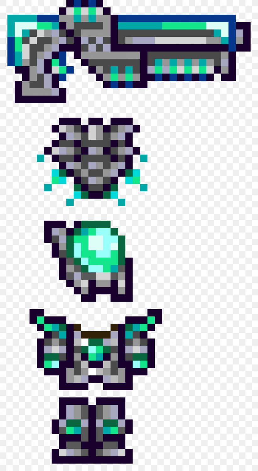 Terraria Armour Pixel Art Video Games Sprite Png