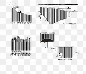 Umbrella Dimensional Code - Barcode Creativity Universal Product Code Packaging And Labeling PNG