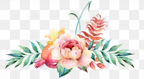 Watercolor Floral Decoration - Flower Floral Design Watercolor Painting Illustration PNG