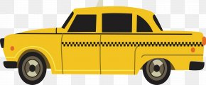 Yellow Taxi - Taxi Car Download PNG