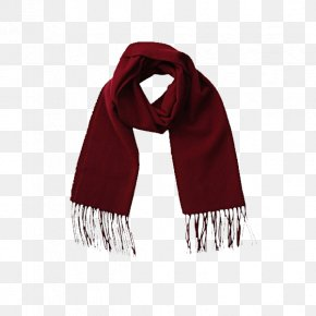 Classic Red Winter Scarves - Scarf Winter PNG